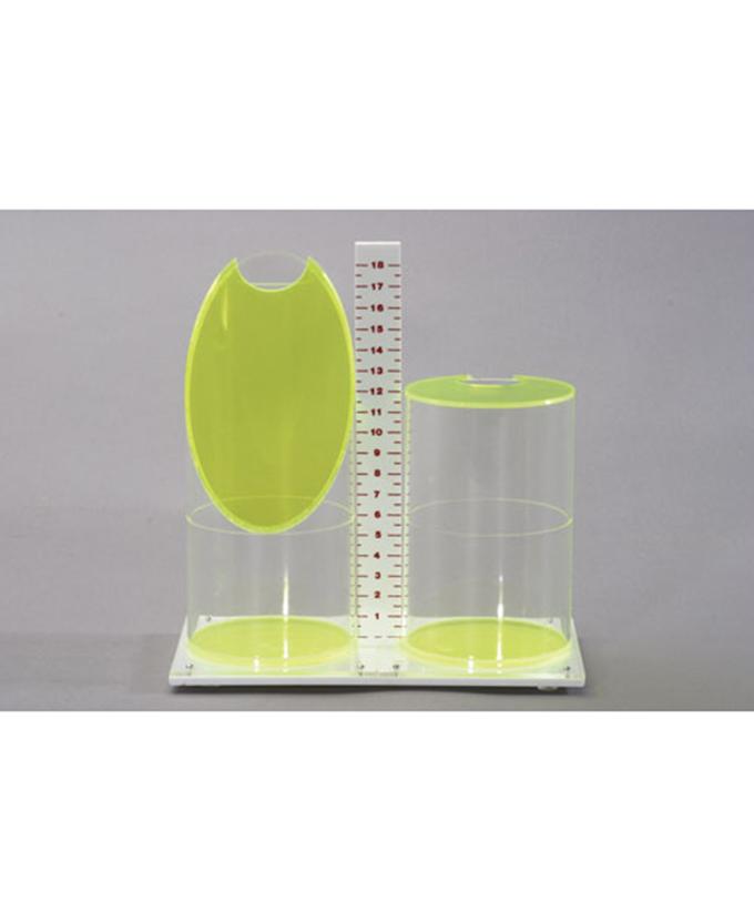 Usporedba kosog valjka i valjka s mjernom skalom, model volumena