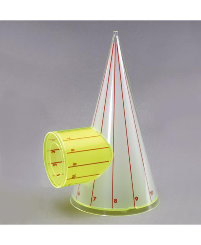 Stožac spojen s valjkom (vodoravan spoj) i s mrežom površine