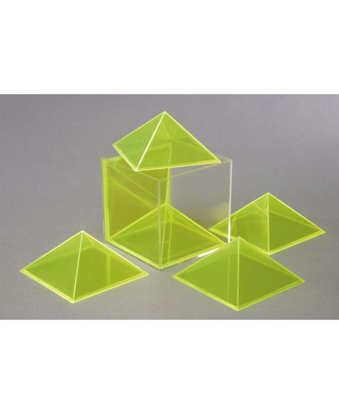 Kocka, može se rastaviti u šest jednakih piramida
