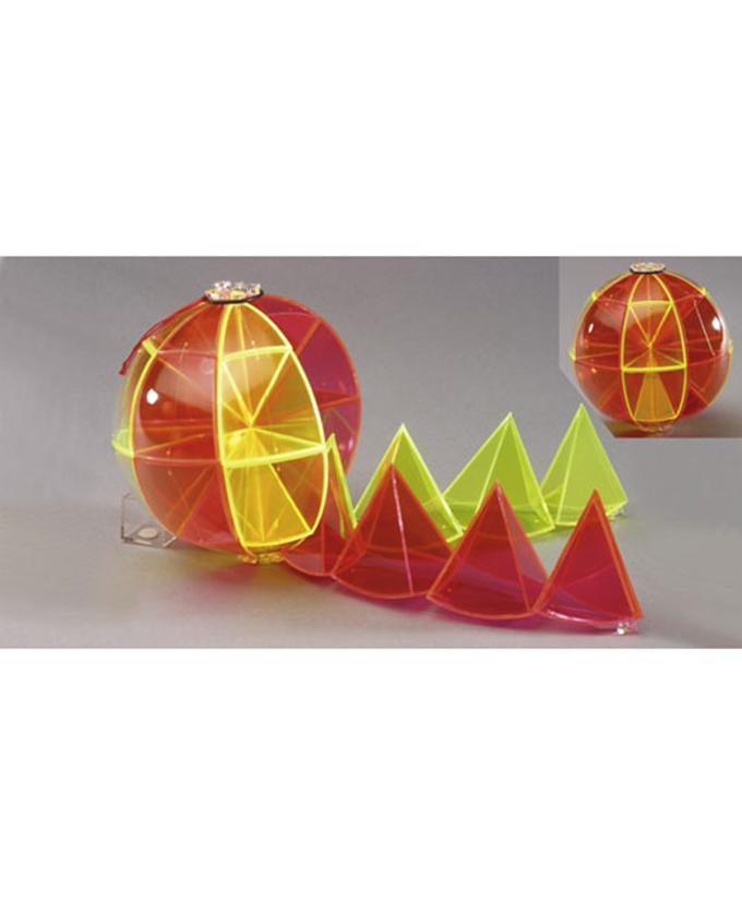 Kugla s odvojivom mrežom površine. Model za izračun kugle, dvobojan, koji se sastoji od 16 trostranih ili 16 četverostranih piramida, koje tvore osam spojenih sfernih sektora.