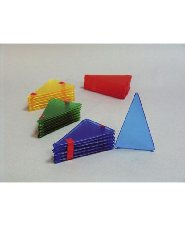 Istokračni trokut, 12 kom, u boji