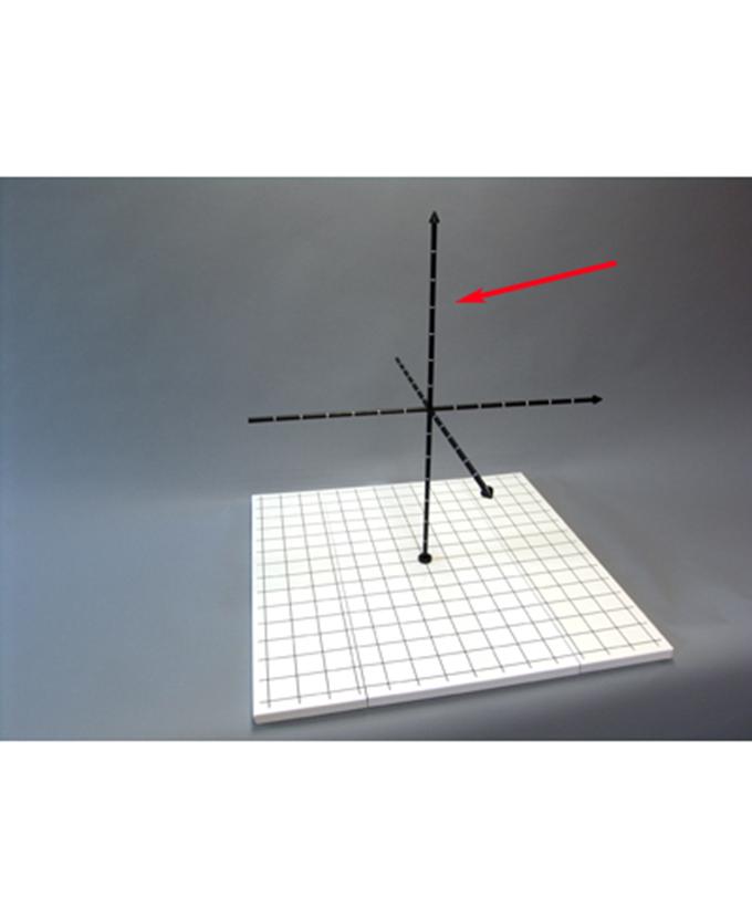 Koordinatni križ za 3D koordinatni sustav i model vektora