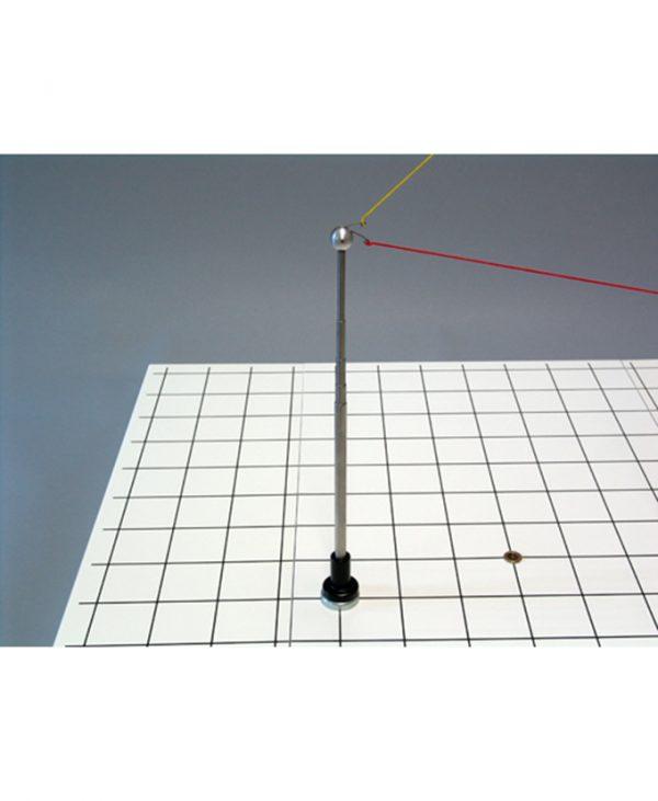 Teleskopski stativ za 3D koordinatni sustav i model vektora